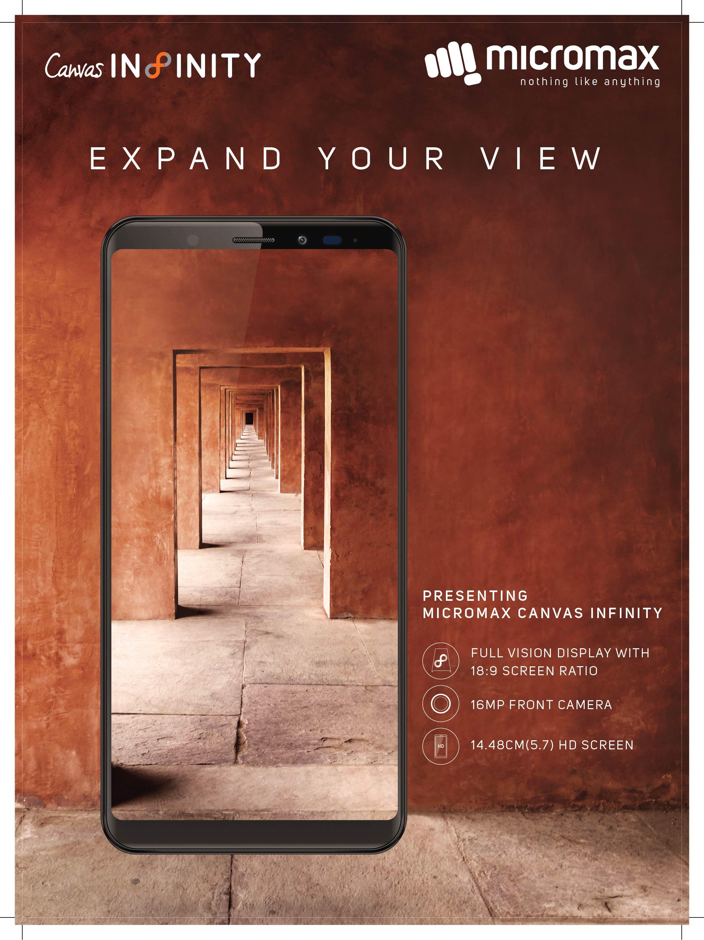 माइक्रोम्याक्सको क्यानभास इन्फिनिटी स्मार्टफोन बजारमा