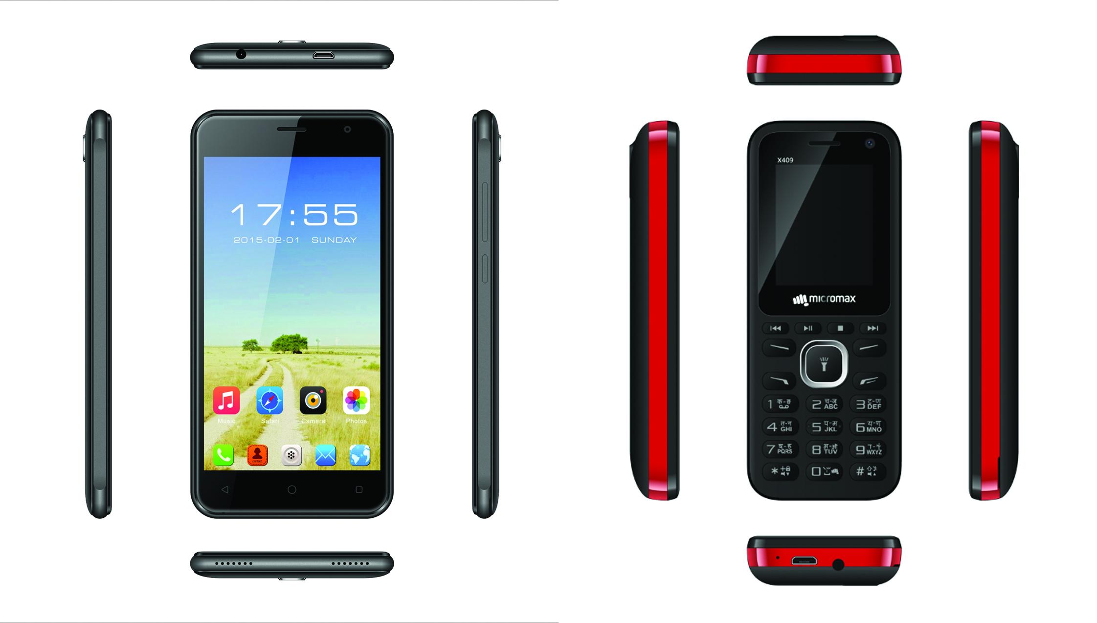 माइक्रोम्याक्सले ल्यायो एक्स ४०९ बारफोन र क्यु ३५३ बजेट स्मार्टफोन