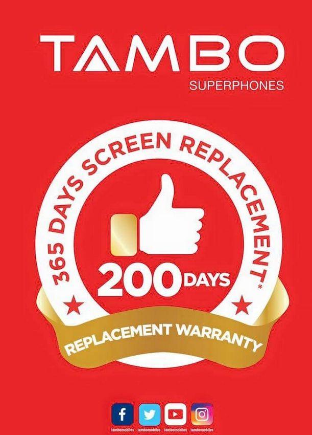 टम्बो मोबाइल नेपाल आउने, २०० दिनसम्मको रिप्लेसमेन्ट वारेन्टि र ३६५ दिनको स्क्रीन रिप्लेसमेन्ट