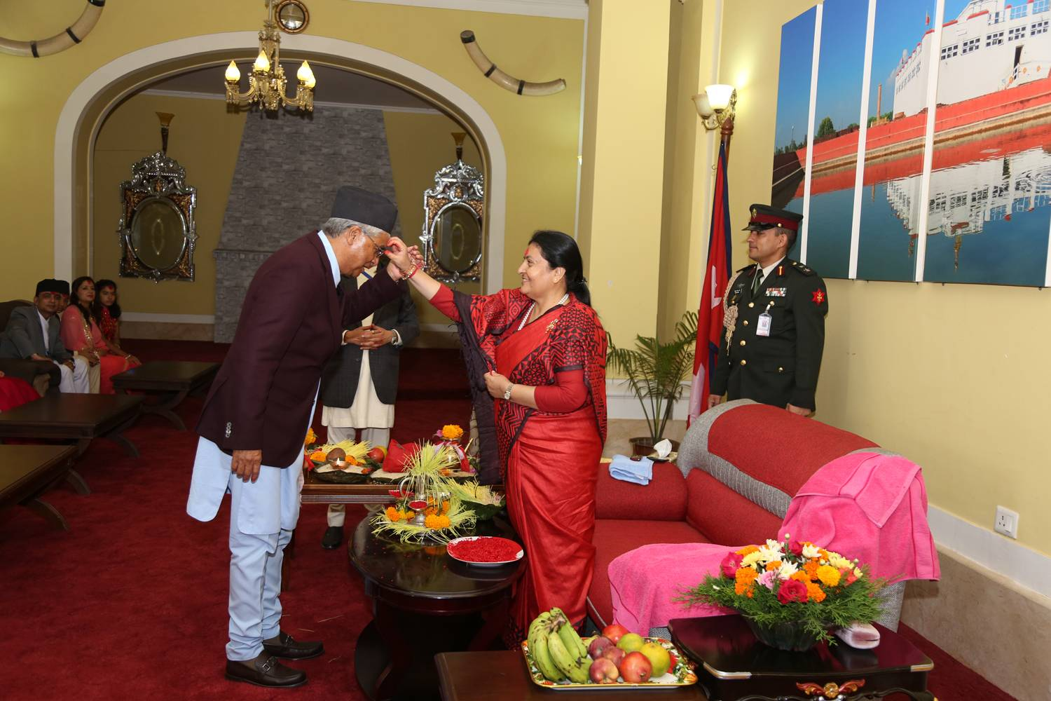 President Offers Tika To Vice President, Pm And The General Public ...