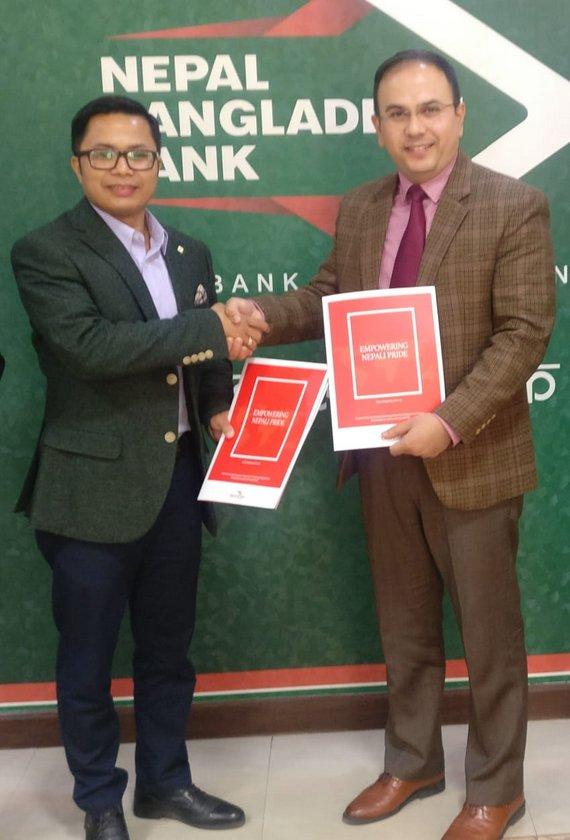 आइएमई डिजिटल र नेपाल बंगलादेश बैंकबीच सम्झौता
