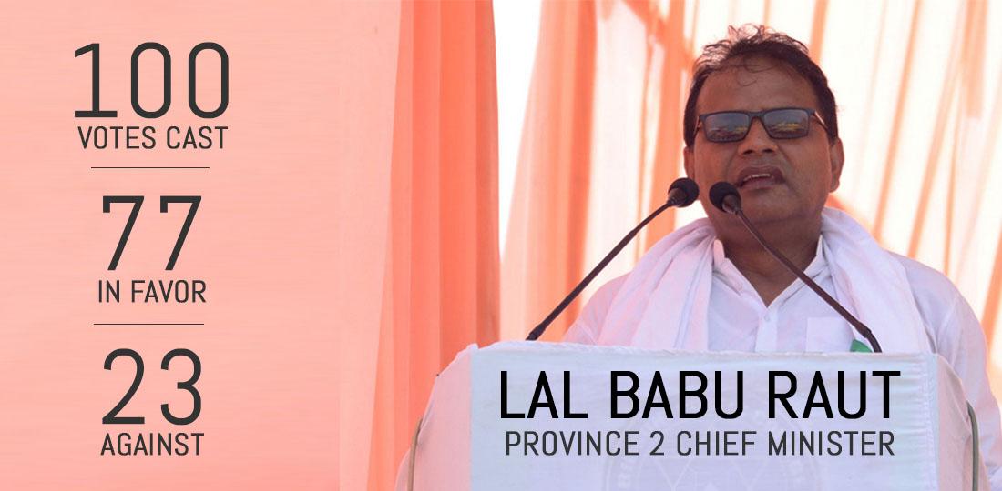 Province 2 CM Raut wins confidence motion » Meroshare